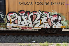 SINK (TheGraffitiHunters) Tags: graffiti graff spray paint street art colorful benching benched freight train tracks boxcar sink
