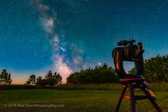 C8 and Milky Way in Moonlight (Amazing Sky Photography) Tags: c8 celestron equipment jupiter luminarflex milkyway moonlight sagittarius saturn summer backyard telescope