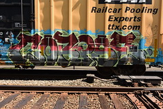CORPSE (TheGraffitiHunters) Tags: graffiti graff spray paint street art colorful benching benched freight train tracks boxcar corpse