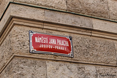 NAMESTI JANA PALACHA (blinker1990) Tags: strase street name strasenschild prag praha prague red rot stadt city cz