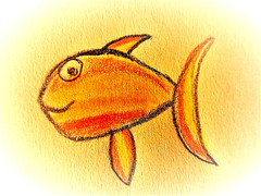 Smiling Fish (Hannelore_B) Tags: fisch fish gonefishing macromondays zeichnung drawing
