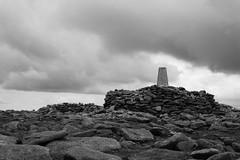 Craggy Summit (steve_whitmarsh) Tags: aberdeenshire scotland scottishhighlands highlands landscape mountain hills bw blackandwhite monochrome summit rock rocks topic