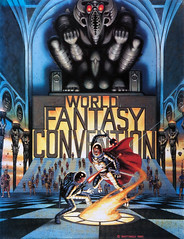 World Fantasy Convention Program, Weird Tales, 1990, cover by David Mattingly (gameraboy) Tags: davidmattingly scifi sciencefiction scifiart art painting illustration vintage worldfantasyconventionprogram weirdtales 1990 cover 1990s