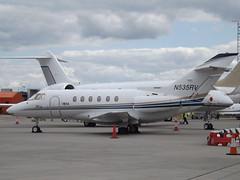 N535RV Raytheon Hawker 800XP (Aero Jet Aviation I Inc) (Aircaft @ Gloucestershire Airport By James) Tags: luton airport n535rv raytheon hawker 800xp aero jet aviation i inc bizjet eggw james lloyds