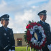 Airmen from the Blue Knights honor guard team participate in the RAIDR 21 memorial ceremony