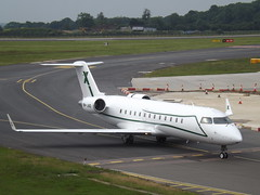 9H-JAD Bombardier CRJ-200ER (Air X Charter) (Aircaft @ Gloucestershire Airport By James) Tags: luton airport 9hjad bombardier crj200er air x charter bizjet eggw james lloyds