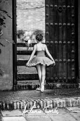 BAILARINA SORPRENDIDA (Antonio Tomás Pineda) Tags: bailarina ballet puerta portón baile puntas danza maillot tutú perro perrito sorpresa mascota sorprendida despedida
