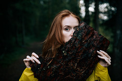 SOK_5143-Edit (KirillSokolov) Tags: girl portrait forest yellow nikon nikonrusigma3514art redhead redhair кириллсоколов никон рыжая девушка портрет лес лето summer