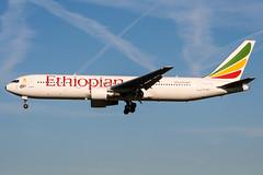 ET-ALP (PlanePixNase) Tags: amsterdam ams eham schiphol planespotting airport aircraft boeing 767300 b763 767 ethiopian
