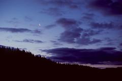 Crescent Sunset (voetshy) Tags: film 35mm pentax lx sunset 50mm 12 fuji provia 100f slide expired moon