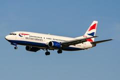 G-DOCB (PlanePixNase) Tags: amsterdam ams eham schiphol planespotting airport aircraft british britishairways boeing 737400 b734 737