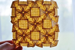 Woven Diamond variation Tessellation (Byriah Loper) (Byriah Loper) Tags: origami origamimodular modularorigami modular byriahloper paperfolding paper polygon polyhedron