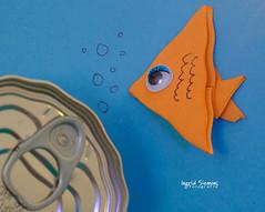 Grandpa, is it you? (Inky-NL) Tags: macromondays gonefishing fish paper can blikje tunaincan fishing rimple origami humor tonijn blik