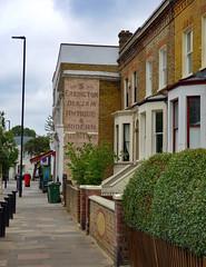Old Sign, Dulwich Road (London Less Travelled) Tags: uk unitedkingdom britain england london southlondon lambeth city street urban suburban suburbia suburb suburbs brockwell norwood sign ghostsign dulwich brixton