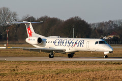 HB-JAM (PlanePixNase) Tags: hannover aircraft airport planespotting haj eddv langenhagen swiss embraer 145 e145 crossair