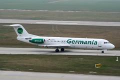 D-AGPJ (PlanePixNase) Tags: hannover aircraft airport planespotting haj eddv langenhagen fokker 100 f100 germania