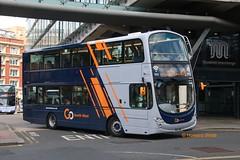 Go North West 39214 (BN61 MWO) (SelmerOrSelnec) Tags: gonorthwest volvo b5lh wright bn61mwo manchester shudehillinterchange repaint newlivery refurbished firstmanchester bus hybrid