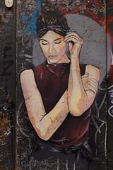 Hamburg Street Art (michael_hamburg69) Tags: hamburg germany deutschland urbanart streetart gängeviertel künstler artist janajs woman girl strikeapose