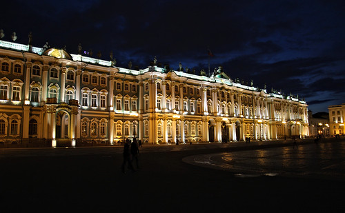 Winter palace during white nights