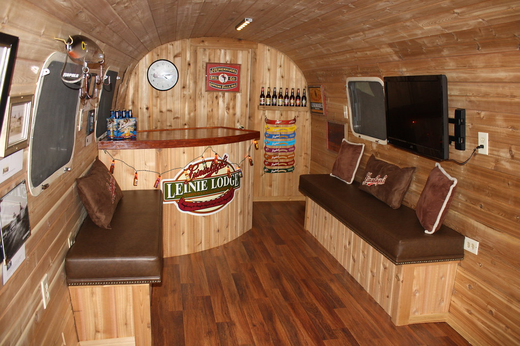 Interior of Leinenkugel Airstream