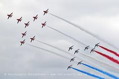 7964 RAFAT & Patrouille De France Concorde formation (photozone72) Tags: aviation aircraft airshows airshow canon canon7dmk2 canon100400f4556lii 7dmk2 riat fairford raf rafat redarrows reds redwhiteblue patrouilledefrance formation flypast concorde