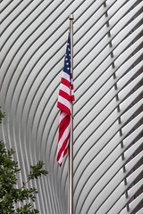 US Flag outside Westfield World Trade Center, New York City (baldychops) Tags: newyork newyorkcity nyc city icon iconic famous history historic summer vacation holiday outdoor visit visitor tourist tourism building architecture flag roof starsandstripes starsstripes pole flagpole path worldtradecenter tradecenter oneworldtradecenter oneworldtradecentre oneworld westfield shop shopping shoppingcentre westfieldshoppingcentre