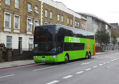 FLIXBUS 1 RBN 638 - NEW CROSS ROAD - WED 17TH JULY 2019 (Bexleybus) Tags: new cross road south east london se14 flixbus flixbuscom continental travel vanhool double deck coach 1 rbn 638 1rbn638 route 815 to brussels north