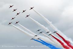 7962 RAFAT & Patrouille De France Concorde formation (photozone72) Tags: aviation aircraft airshows airshow canon canon7dmk2 canon100400f4556lii 7dmk2 riat fairford raf rafat redarrows reds redwhiteblue patrouilledefrance formation flypast concorde