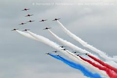 7959 RAFAT & Patrouille De France Concorde formation (photozone72) Tags: aviation aircraft airshows airshow canon canon7dmk2 canon100400f4556lii 7dmk2 riat fairford raf rafat redarrows reds redwhiteblue patrouilledefrance formation flypast concorde