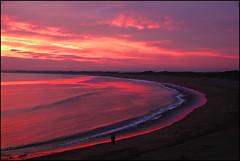 Sunset in the bay. (ikerr) Tags: sunset kilmore quay ireland sea sky red orange sun set bay beach