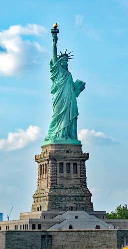 Lady Liberty and Pedestal - Right Side