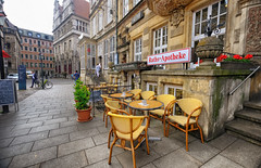 Outside Cafe in Bremen, Germany (` Toshio ') Tags: toshio bremen germany german cafe restaurant europe european europeanunion chair table oldtown people architecture building fujixt2 xt2 bicycle bike