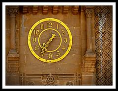 Clock (Tangier - Morocco) (jose_miguel) Tags: españa clock monument miguel yellow stone jaune spain pierre monumento jose amarillo morocco maroc reloj marruecos espagne tangier tanger piedra lhorloge tánger rigotag