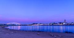 Nijmegen - De Waal (anakhaled2) Tags: netherland night nijmegen pentax pentaxk1 irix 15mm landscape light sunset de waal
