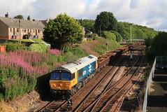 British Rail 66789 at Arbroath (60044) Tags: class 66 66789 br british rail blue large logo jt42cwr engineers train trains arbroath shed inverkeilor elliot mha mfa mta mpa ews gbrf ballast coalfish 394001 66250