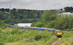37884 313056 313024 5Q78 1022 Hornsey EMUD - Newport Docks (Simsgroup) on the Docks Branch Newport 22.07.2019 (The Cwmbran Creature.) Tags: british rail class trains emu 313 scrap metal train for scrapping railway docks branch
