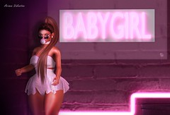 'Baby♥girl' (starlight.designs) Tags: second life love genus babyface coacoa sisters friends backdrop city mesh starlight designs brand home mansion money classic itgirls baby girl babygirl
