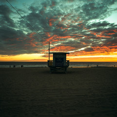 ave 26 sunset (xpro). venice beach, ca. 2018. (eyetwist) Tags: eyetwistkevinballuff eyetwist ave26 venicebeach lifeguard pacificocean sunset clouds sand ishootfilm ishootkodak mamiya 6mf 50mm kodak ektachrome e100vs crossprocessed xpro crossprocess mamiya6mf mamiya50mmf4l kodakektachromee100vs 100vs crossprocessede6c41 analog analogue film emulsion mamiya6 square 6x6 mediumformat 120 primes filmexif epsonv750pro iconla lenstagger venice beach la oceanfrontwalk pacific ocean baywatch 26thavenue losangeles los angeles socal california westla angeleno waves horizon water tower hut stand seascape dusk storm silhouette processed