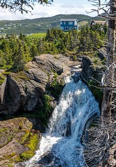 Flatrock Waterfalls (Karen_Chappell) Tags: nature water waterfalls flatrock nfld newfoundland avalonpeninsula atlanticcanada canada eastcoast eastcoasttrail house green trees landscape scenery scenic rocky rocks hills canonef24105mmf4lisusm