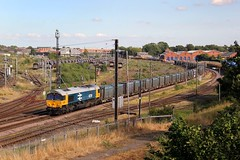 66789 - 4E27 - 2019-07-22 (BillyGoat75) Tags: class66 66789 gbrf brlivery britishrail dieselloco locomotive freight hotchleyhillmiddlesbrough gypsum empties holgatesouthyard york northyorkshire 4e27