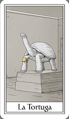 La Tortuga / The Turtle (Marcos Telias) Tags: cards tarot carta mazo deck strange tarocco cartastelias illustration ilustración dibujo arte artista artist art drawing mysterious chile chilean chileno marcos telias