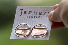 New earrings (jackie.moonlight) Tags: january jewelry earrings horizon collection metal metalsmith brass