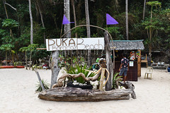 Local welcome sign of Puka Boracay Beach (wuestenigel) Tags: sea sky people beach water landscape photography sand scenery outdoor vibrant philippines vibes boracay sailboats stockphoto tropicalparadise stockphotography goodvibes landscapephotography digitalnomad reiseblogger island whitesand isolated coconuttrees seawater ocean wood travel family vacation woman man tree tourism strand wasser child urlaub religion familie group tourist menschen insel kind tropical mann frau holz landschaft seashore baum tourismus reise gruppe ozean tropisch