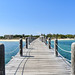 Footbridge heading towards the shore
