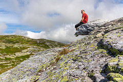 Selfie on a Rock (Kurt Evensen) Tags: blefjell bletoppen norway family hiking landscape mountain nature outdoors summer summit hovinitelemark telemarkcountymunicipality
