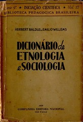 Dicionário de Etnologia e Sociologia (Baldus & Willems 1939)