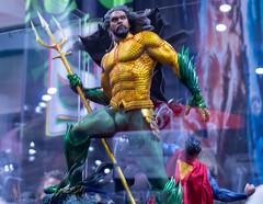 Aquaman Action Figure (GoodLifeErik) Tags: sandiego comiccon2019 comiccon downtown statue actionfigure lifelike aquaman trident