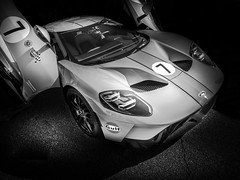 GT (Dave GRR) Tags: ford gt gulf supercar sportscar hypercar exotic toronto auto show racing monochrome mono blackandwhite olympus