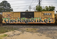 (o texano) Tags: houston texas graffiti trains freights bench benching check rast tiket