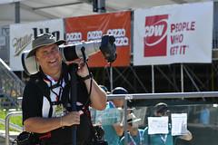 Mr. Rick and his big lens (Richard Wintle) Tags: canon photographer media ntt nttdata honda indy toronto ontario canada exhibitionplace streetsoftoronto